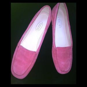 Talbots Suede Pink Loafers - 7.5 AA